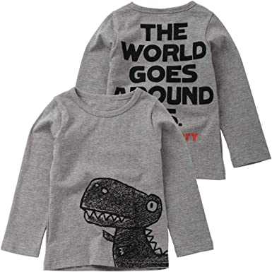 Toddler Baby Boys Sweatshirt Long Sleeve Letter Printed Solid Tops Blouse Casual Pullover Fall Winter Clothes