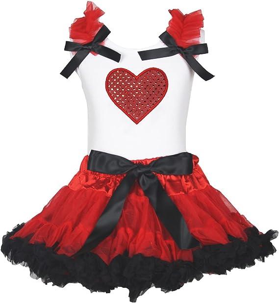 San Valentín vestido lentejuelas corazón rojo de camisa blanca ...