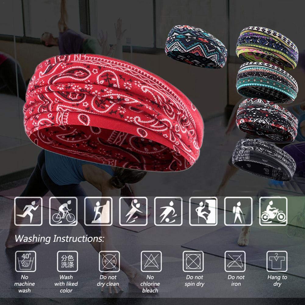Beneu Sport Stirnband Yoga Frauen Elastic Athletic Hairband Herren Schwei/ßband Leichte Mode Antitranspirant G/ürtel Fitness Laufen Schwei/ßband Schal Gro/ße elastische /Übung