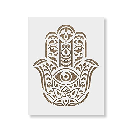 amazon com hamsa palm mandala stencil template for walls and crafts