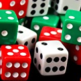 Ifavor123 Red, Green and White Dice – Standard Size 16MM - Pack of 18