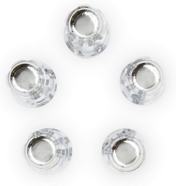 Wheel Accessories Parts Set of 20 Chrome Truck Spline M14x2.0 Bulge Acorn 1.9 Long Lug Nut Wheel Install Kit