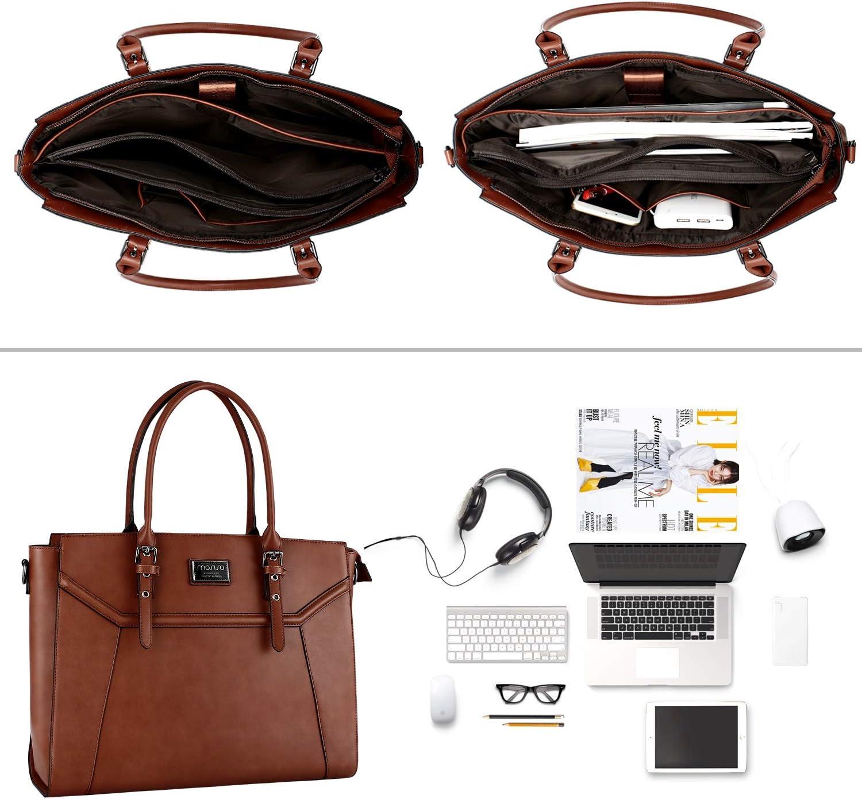 Compatible avec 15,6-17 Pouces MacBook/&Notebook MOSISO Sac Fourre-Tout pour Femme Ordinateur Violet Laptop PU en Cuir /à Main Bandouli/ère avec /Épais Antichoc /& Poign/ée R/églable