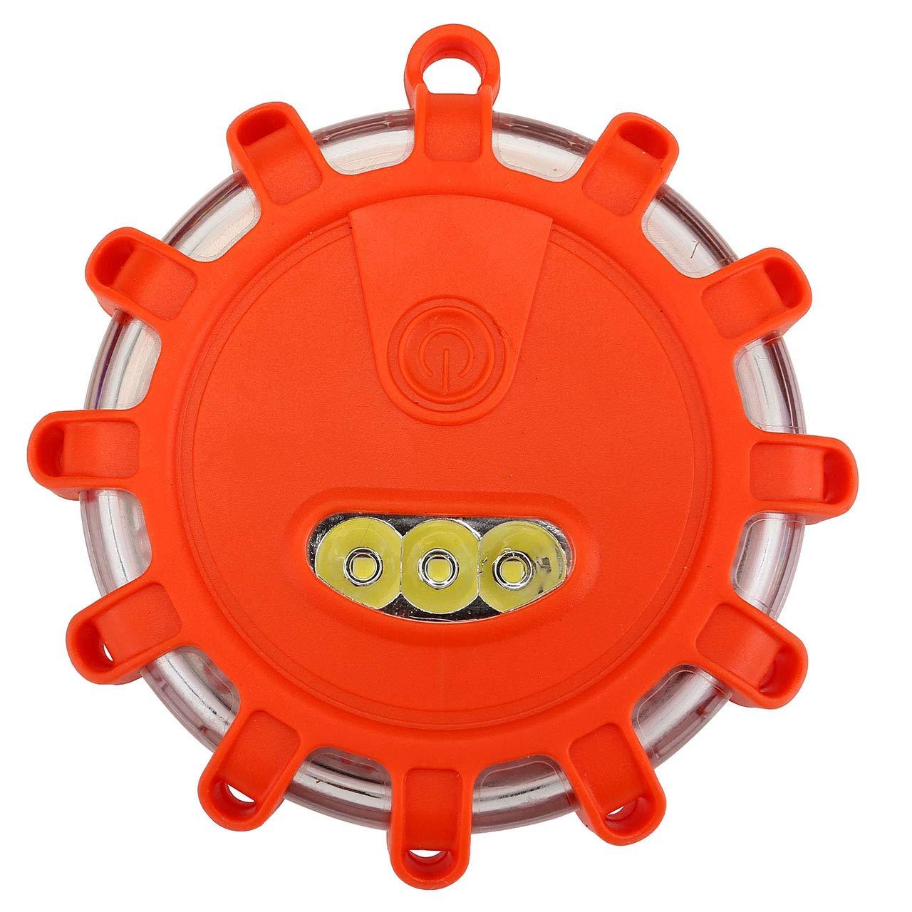 ACBungji Warnblinkleuchte LED Warnleuchte Warnlicht Akku Blinklicht Rundumleuchte Rot COB Arbeitsleuchte mit Magnet fü r Auto Notfall Pannenhilfe ideal als Ergä nzung zum Warndreieck (2 in 1)