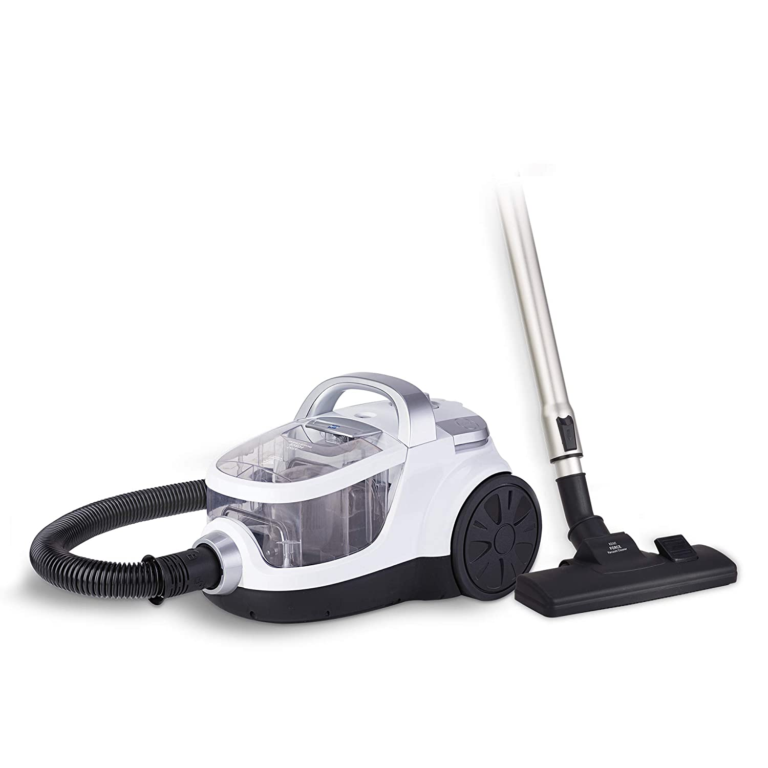 Open-Box & Refurbished (Unused) KENT Force Cyclonic Vacuum Cleaner 2000-Watt (White and Silver) kida.in