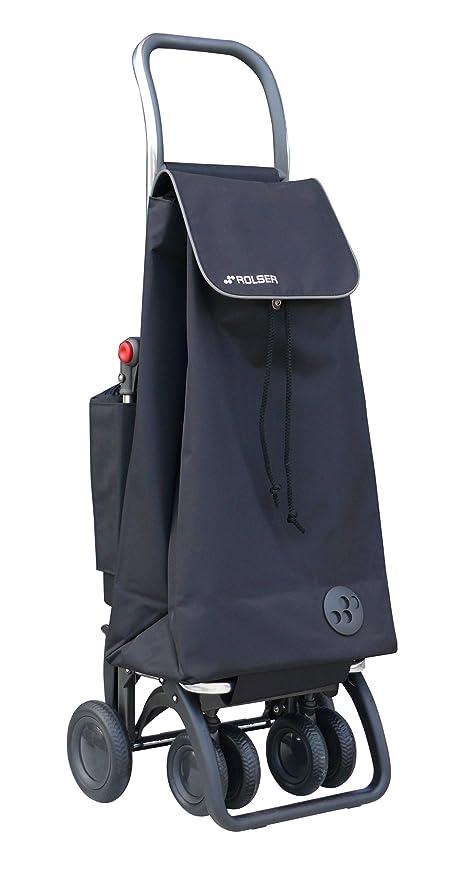 Rolser PAC047 Logic Tour - Carro de la compra con bolsillo térmico, color negro