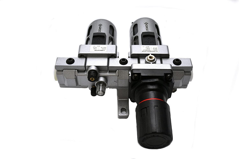 "Regulator Combination and Lubricator Polycarbonate Bowl Standard-1//2/"" NPT Modular 2 Piece 99 CFM FRCLM159334-S Groz 60452 Air Filter"