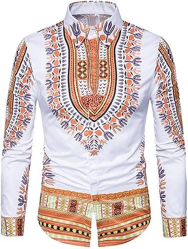 Mieuid Hombre Camiseta Clásica De Chic para Solapa Camisa Friends Estilo Africano Impresa En 3D Camisa Tradicional Tradicional para: Amazon.es: Ropa y accesorios