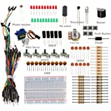 SunFounder Sidekick Basic Starter Kit w/ Breadboard, Jumper wires, Color Led, Resistors, Buzzer For Arduino UNO R3 Mega2560 Mega328 Nano - Including 42 Page Instructions Book
