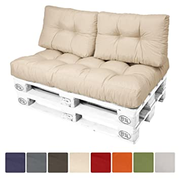 Beautissu Set da 2 cuscini per spalliera di divanetti con pallet o ...