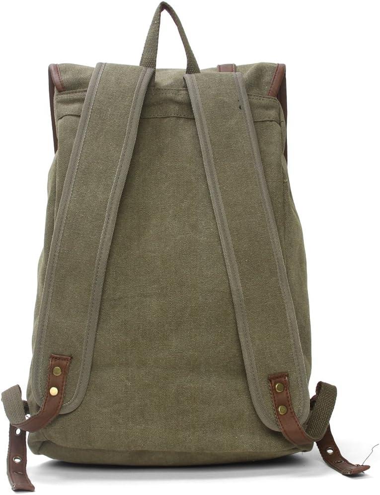 Amyannie Canvas Large and Medium Student Shoulder Bag Outdoor Travel Large Leisure Bag
