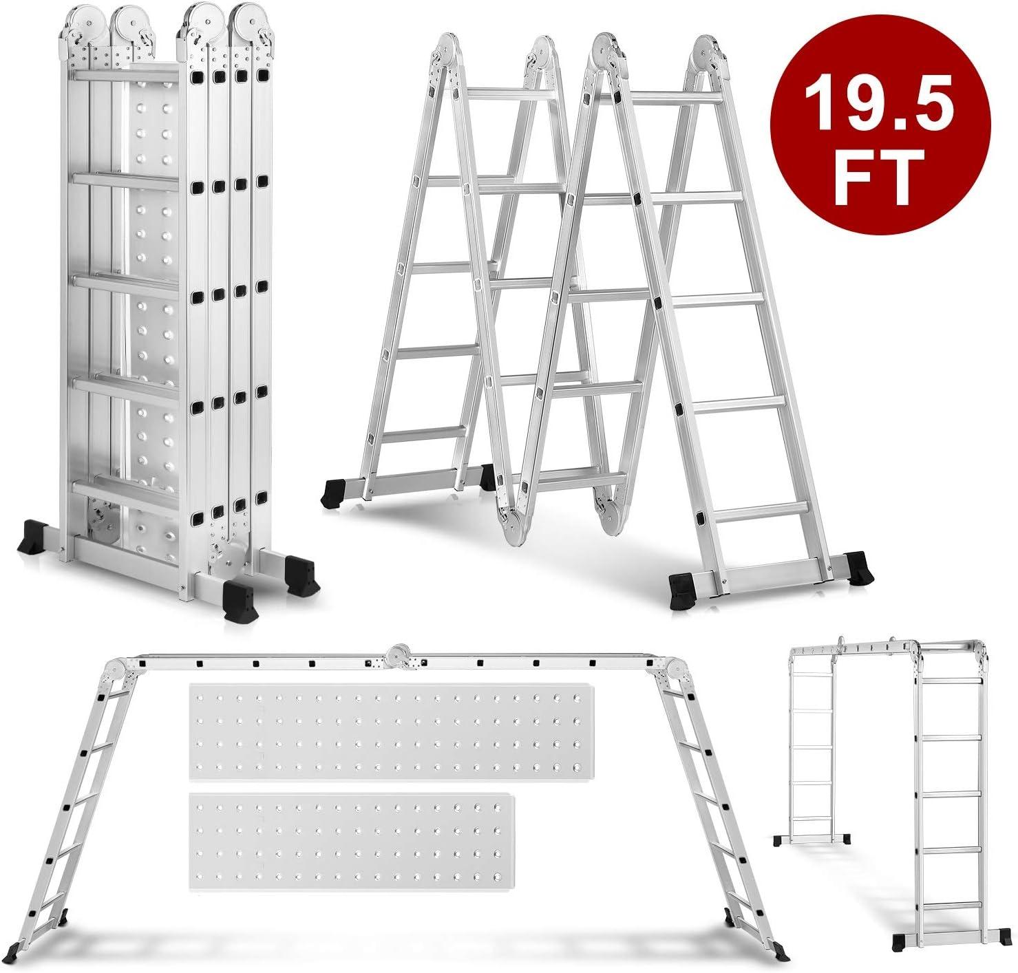 Idealchoiceproduct 19.5ft Heavy Duty Multi Purpose Folding Ladder