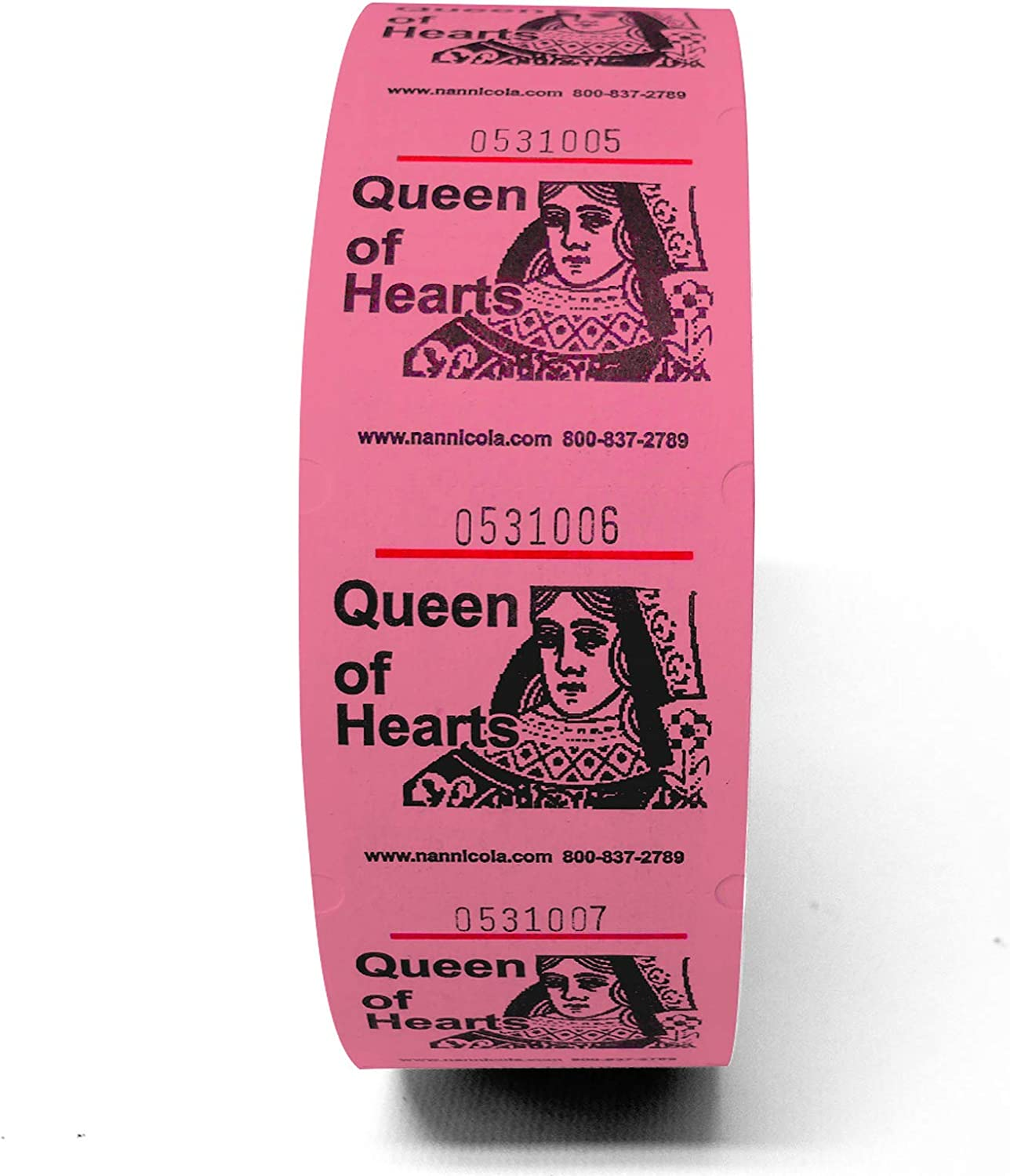 Queen of Hearts Jumbo Roll Event Tickets Blue