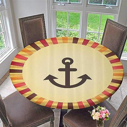 Amazon Com Mikihome Picnic Circle Table Cloths Vintage Pop Style