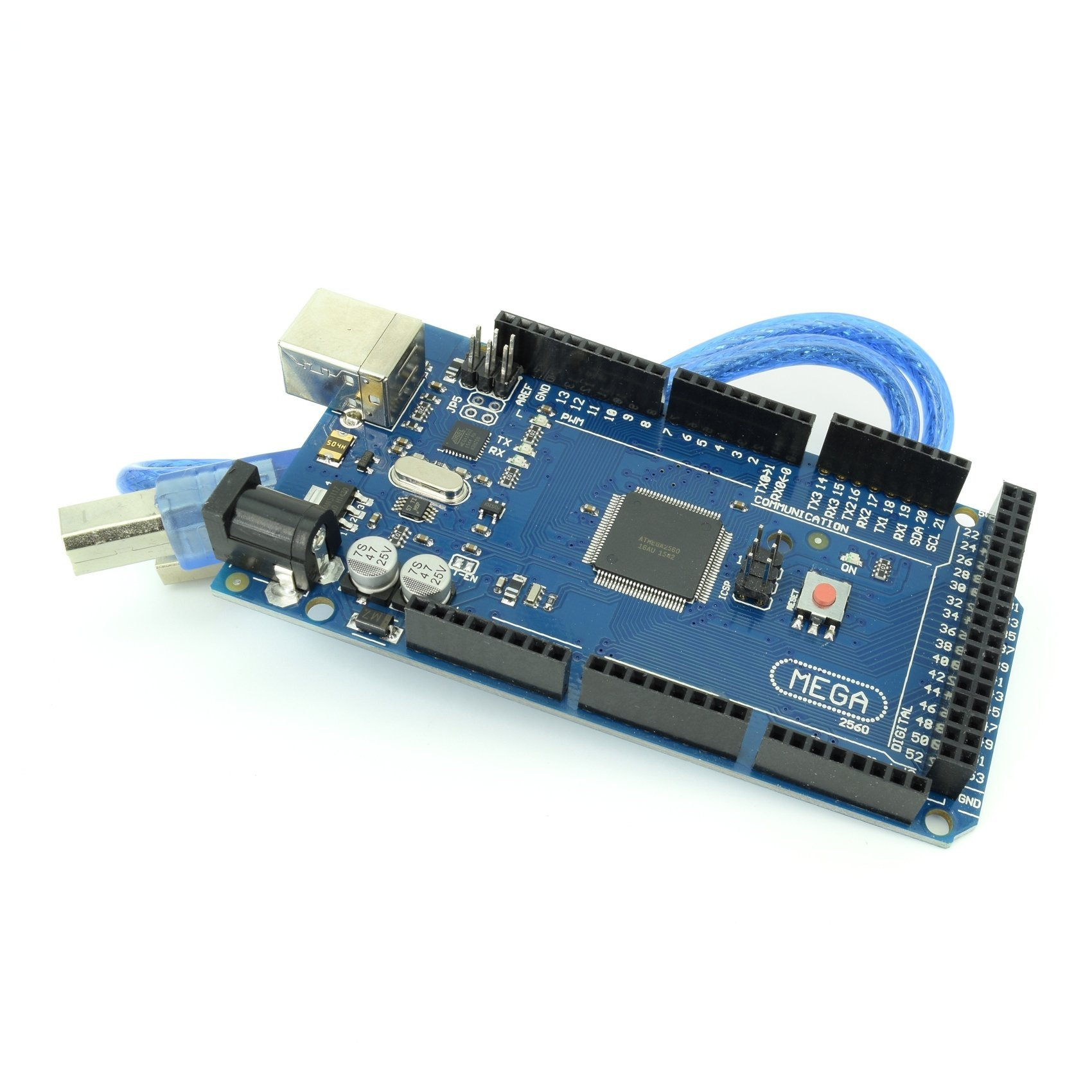 MEGA2560 Micro Controller Board with ATmega2560 and ATMega16U2 Development Board Arduino Mega2560 Compatible with USB Cable from Optimus Electric Pack of 10
