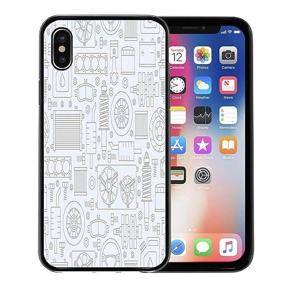 new styles 087c9 e07fa Amazon.com: Emvency Phone Case for Apple iPhone Xs case,Pattern Auto ...
