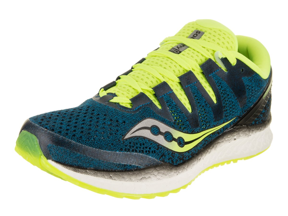Saucony Men's Freedom ISO 2 Running Shoes B078PQ8BWY 10 M US|Blue/Citron