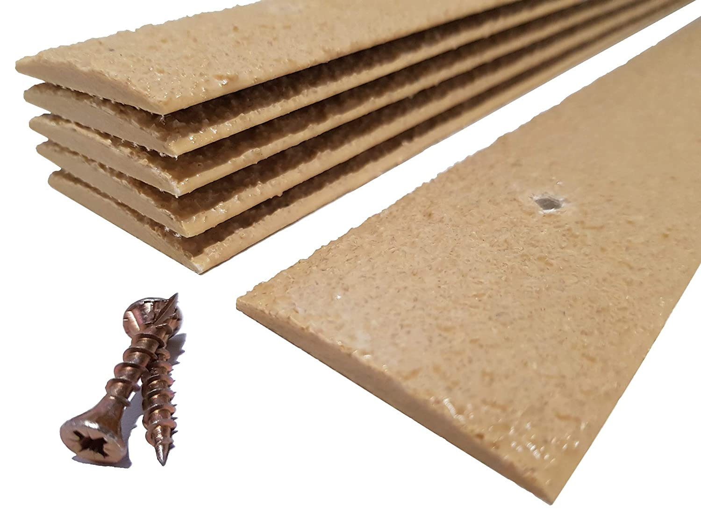 Strisce antiscivolo per superfici, confezione da 20 pezzi, 50 x 1000 mm, beige