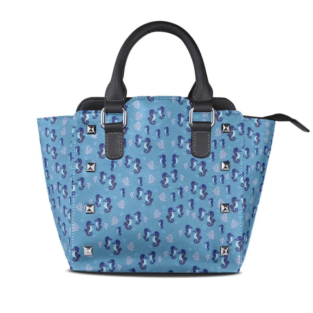 Design5 Handbag Alien Flying Ship Space Genuine Leather Tote Rivet Bag Shoulder Strap Top Handle Women