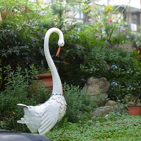 zenggp Jardín Al Aire Libre Adornos De Cisne Decoración De Hierro Forjado Simulación Animal Jardín Villa Césped Boda,A-33 * 20 * 73cm: Amazon.es: Hogar