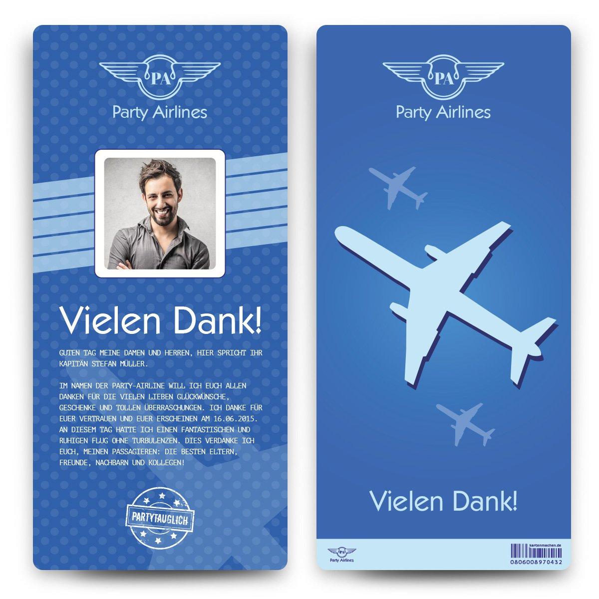 Danksagungskarten (60 Stück) - - - Flugticket - Boarding Pass Dankeskarten Danksagung in Blau B01N4PVP3Z | Jeder beschriebene Artikel ist verfügbar  | Ausgezeichnet (in) Qualität  | Schöne Kunst  23ad2f