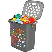 Milton Hamper Laundry/Toy Organizer Basket, 35 litres, Grey