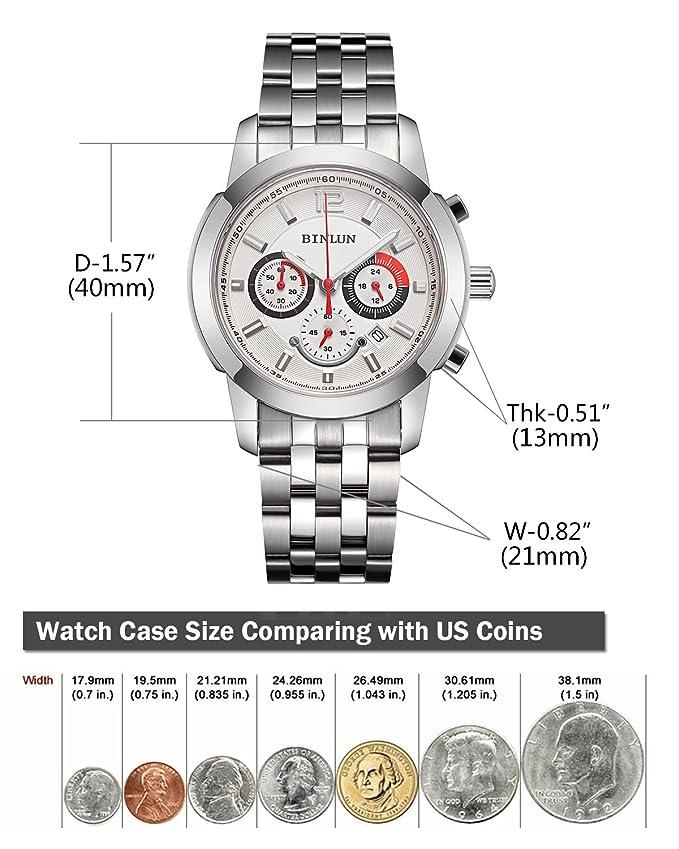 Bl0063swAmazon esRelojes Binlun Reloj Para SzVpMU