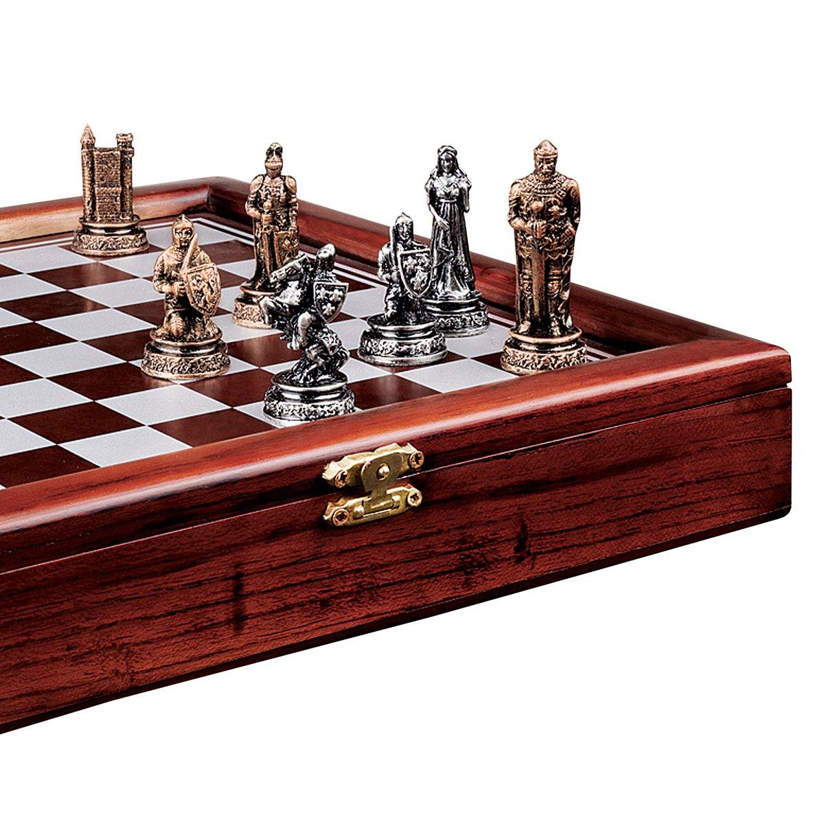 amazon com design toscano the knights mortal conflict chess set