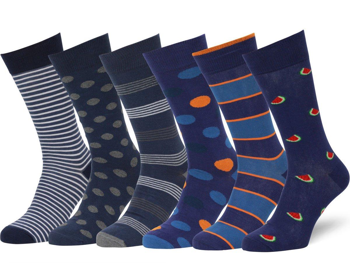 Easton Marlowe 6 PR Calcetines Estampados Hombre, Calidad Europea product image
