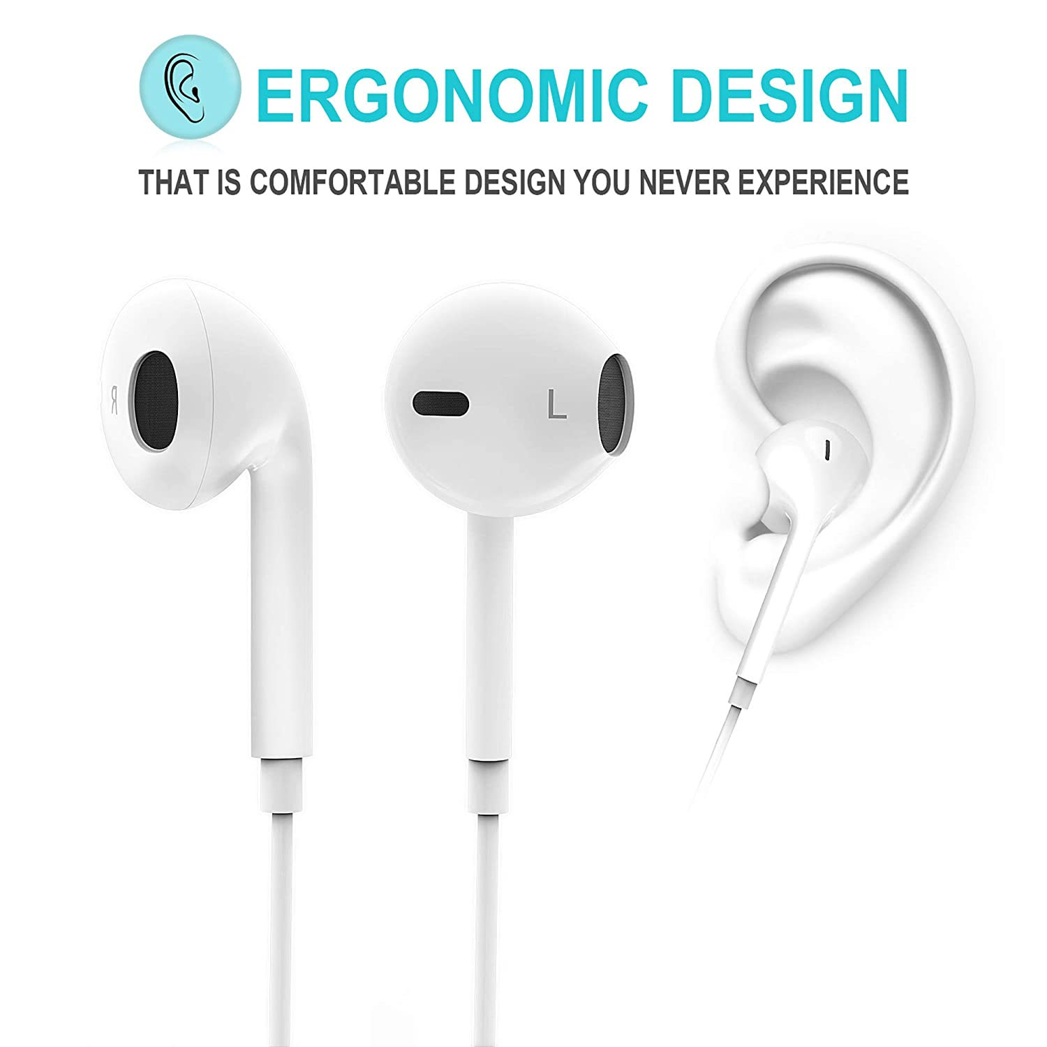 Amazon.com: Buetooth Headphones, Earphones with Stereo Mic, Sweatproof Headset for Running Gym Workout: Musical Instruments