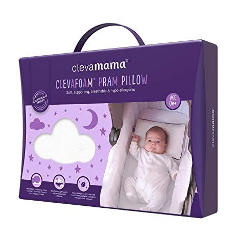 Amazon.com : ClevaMama ClevaFoam Pram Pillow - Breathable Infant ...