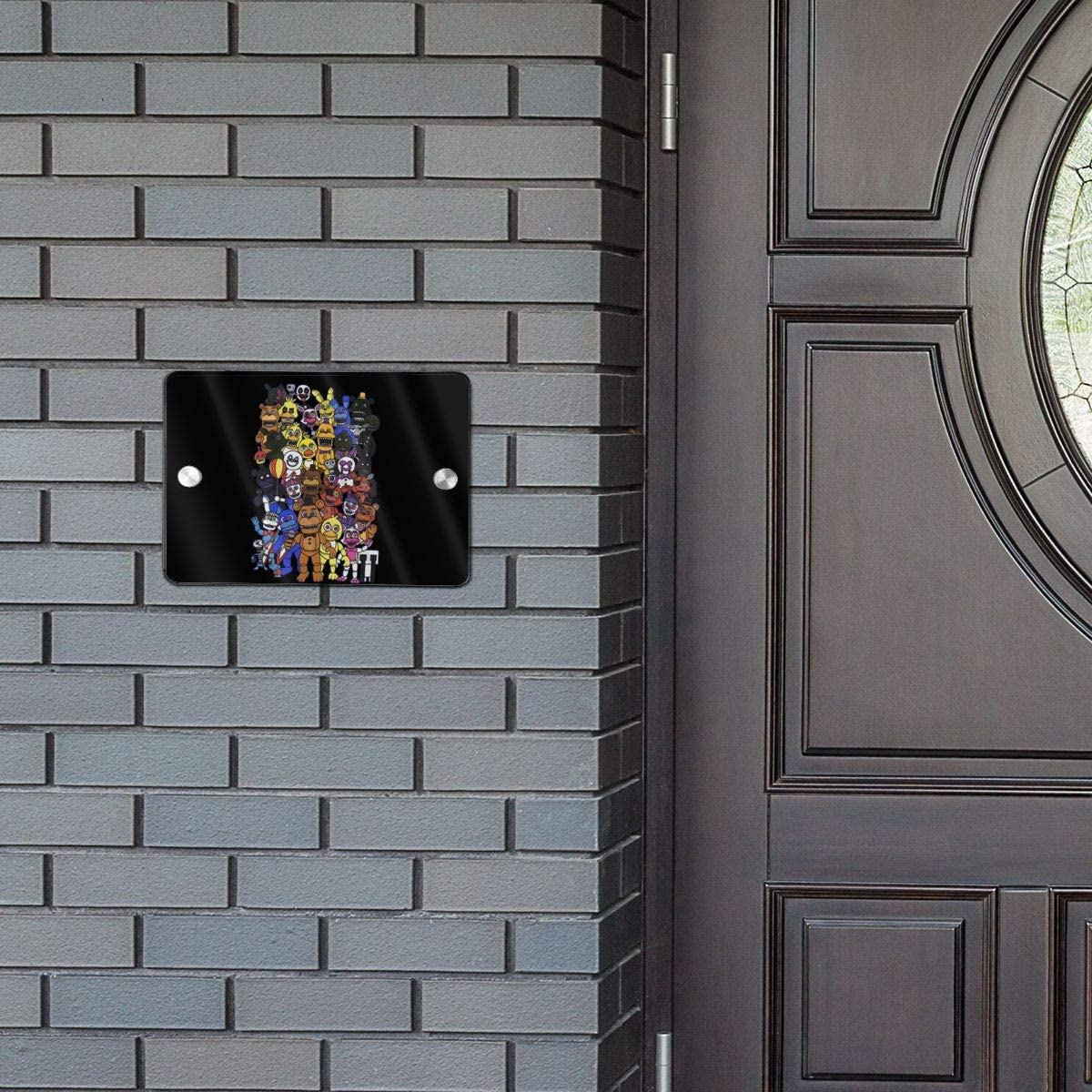 Zhengyu Five Nights Door Sign 5.57.5 in Office Sign Door Home Door Sign