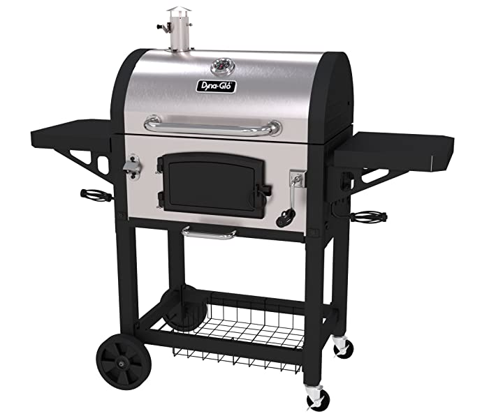 Dyna-Glo DGN486SNC-D Heavy Duty Stainless Charcoal Grill, Large