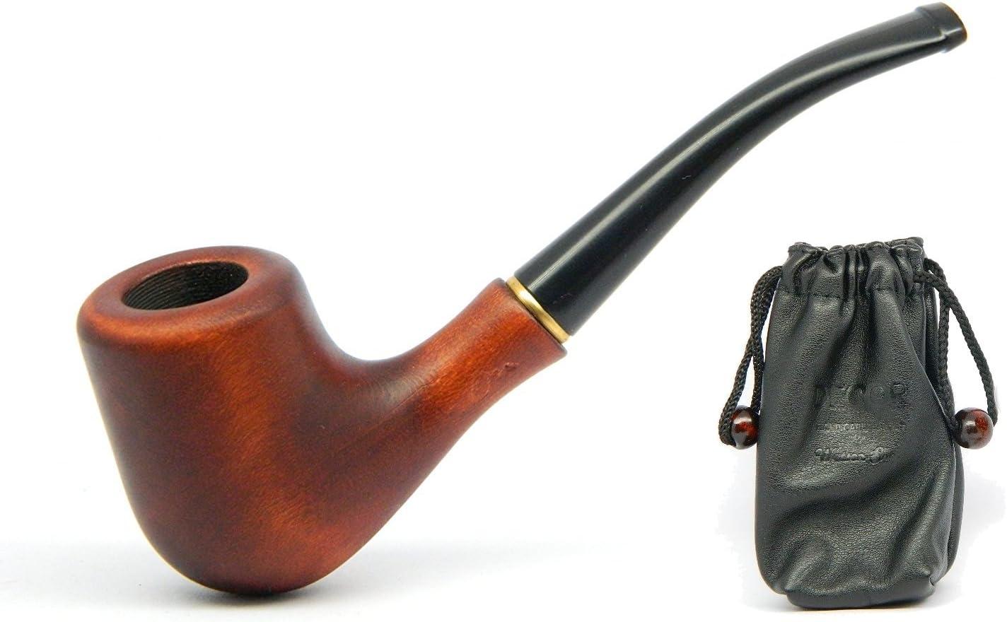 Dr. Watson - Mini Pipa de Fumar de Madera del Tabaco, tallada a mano, viene en caja (Mini)