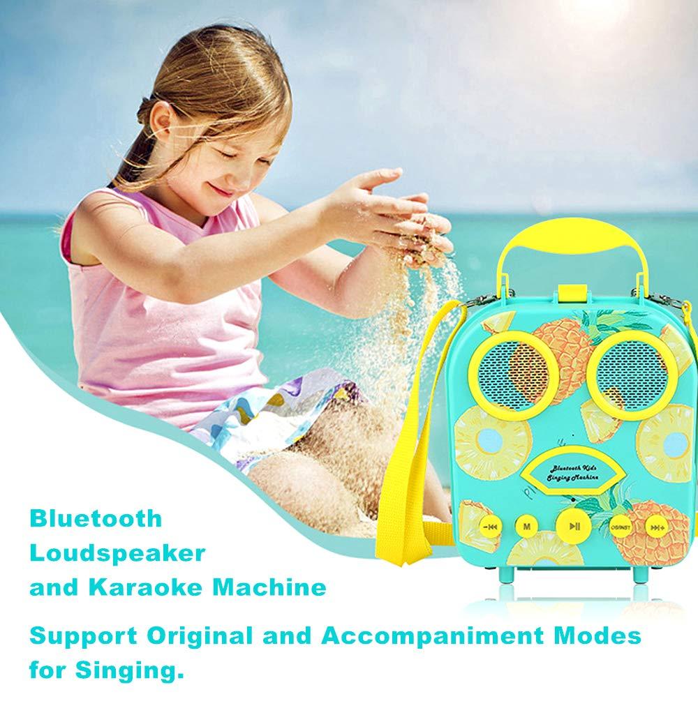 Kids Karaoke Machine with Microphone, Bluetooth Rechargeable Kids Handbag Karaoke Music Player Toy Children MP3 Player Loudspeaker with Microphone (Handbag Green) by Kidsonor (Image #4)