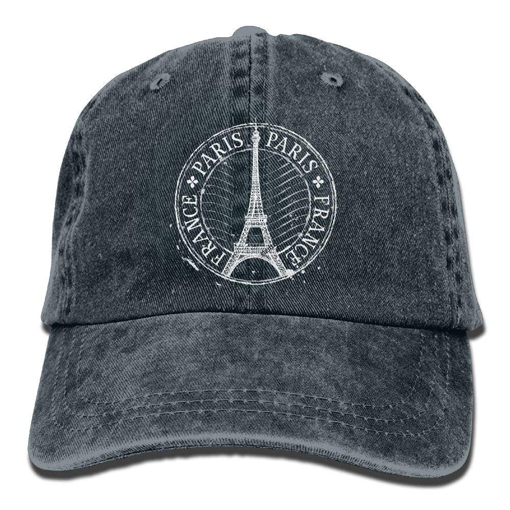 Paris Eiffel Tower StampAdjustable Unisex Baseball Cap Fashion ...