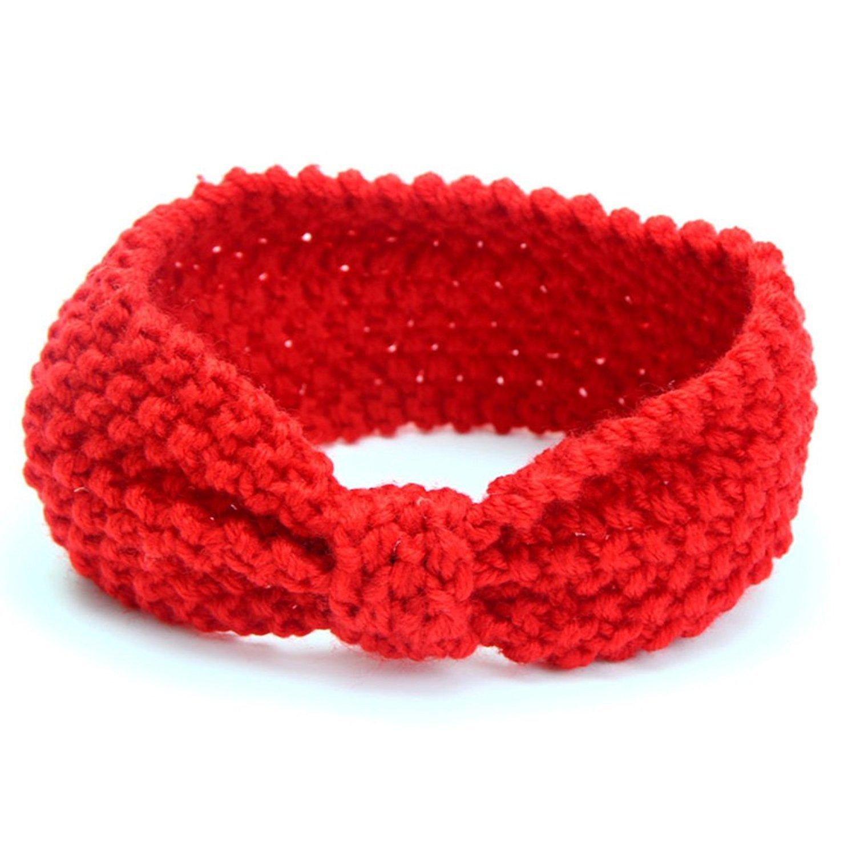 dragonaur Kids Toddler Baby Girl Cute Winter Warm Hair Band Bow Crochet Knitted Headband