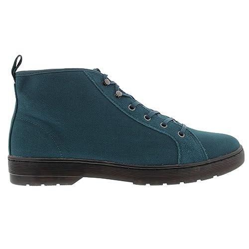 4e263b4970c Dr.Martens Mens Coburg 6 Eyelet Waxy Blue Canvas Boots 11 US: Amazon ...