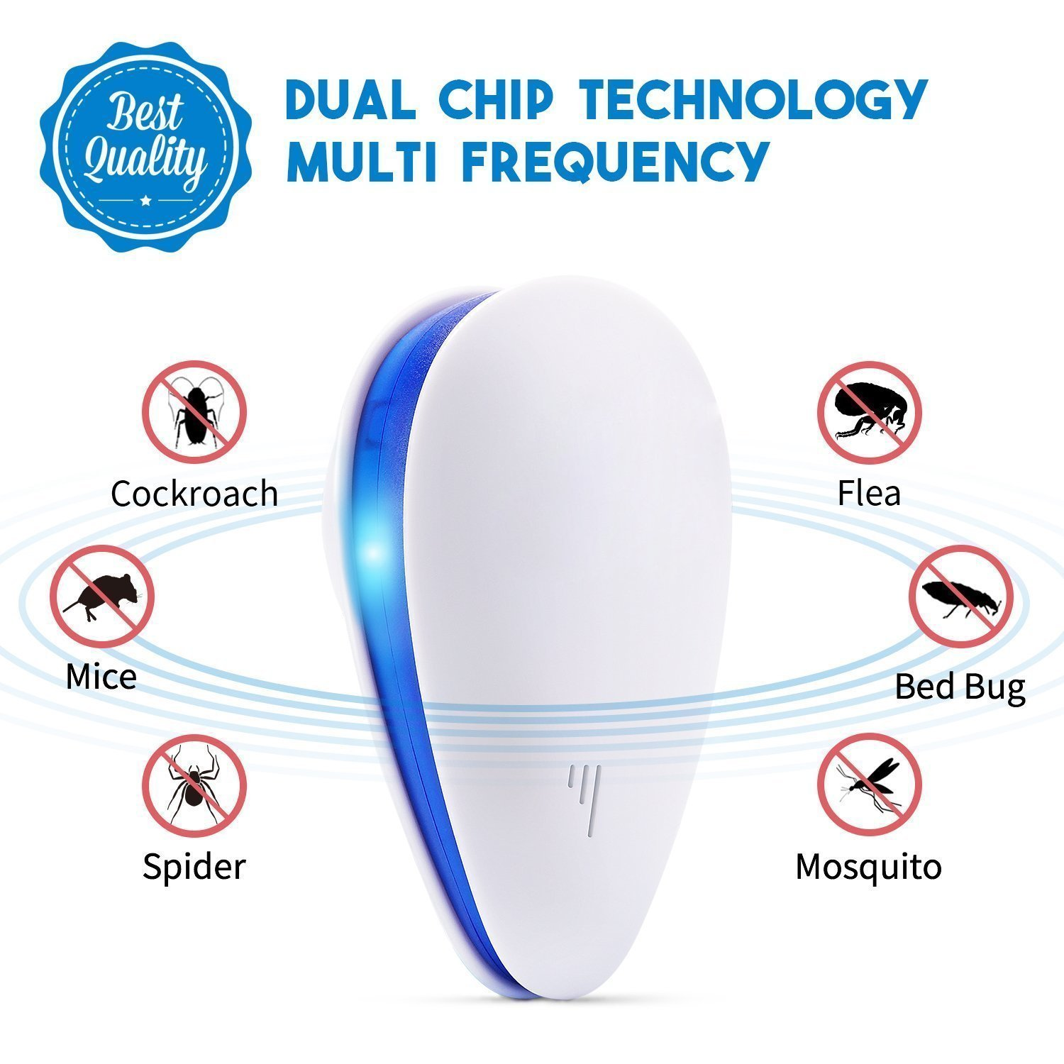 Ultrasonic Pest Repeller Lasaoon Eletronic Is The Circuit Diagram Of An Mosquito Repellerthe Repellent Plug In Insect 6 Pack Garden Outdoor
