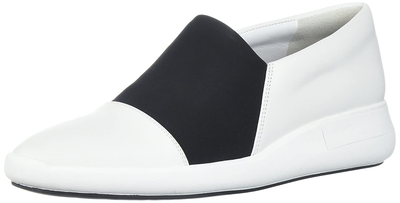 Via Spiga Women's Morgan Slip Sneaker B074CYPCCX 9 B(M) US|White Leather/Black Neoprene