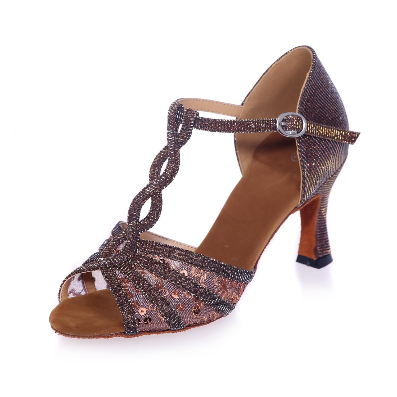 Frauen Latin Dance Schuhe Ferse 7.5Cm 7.5Cm 7.5Cm Satin Tanz Sandalen können angepasst Werden B076YW741L Tanzschuhe Produktqualität 1867b0