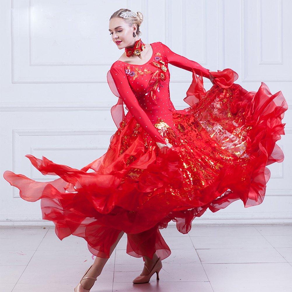 Amazon.com: nakokou Mujer Salón de baile de danza ...