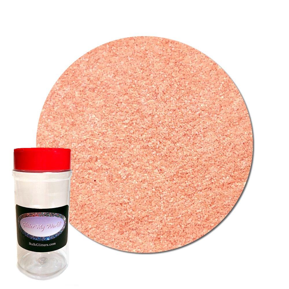 Glitter My World! Ultra Fine Glitter Cosmetic Prism: Georgia Peach 8 oz Jar