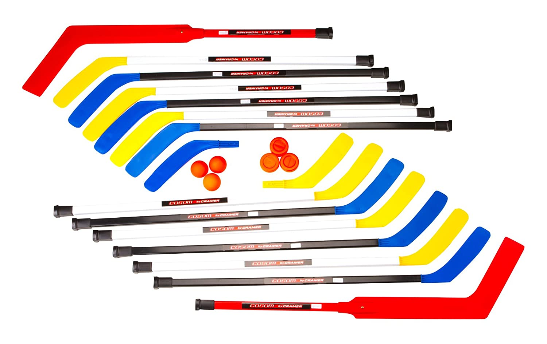 Cosom Senior Plastic Hockey Sticks for Floor Hockey and Street Hockey, High School Physical Education Equipment, Plastic Hockey Equipment for Practice and Training