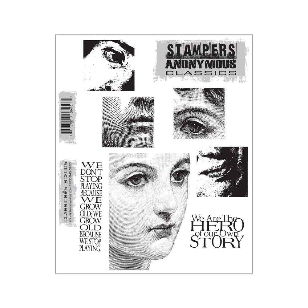 Stampers Anonymous Cling Stamps 7''X8.5'' Classics #5