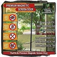 TheFitLife Magnetisch vliegenscherm voor deur - Heavy Duty gaas gordijn met volledige frame haak en lus en krachtige…