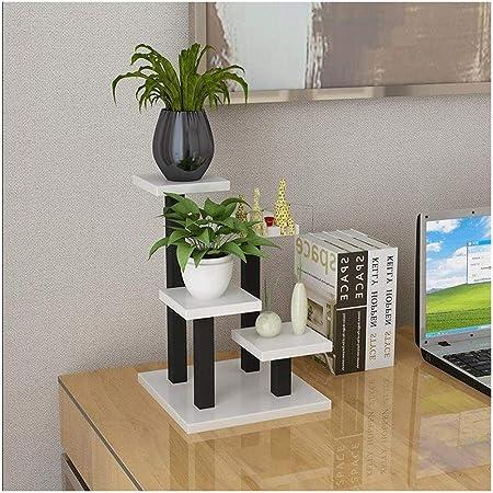 TMY Planta de la Manera representan Seres Minimalista Creativo Mini Oficina de múltiples Funciones de Escritorio de Escalera Modernos Pequeño 3 Capas Flower Stand (Color : E): Amazon.es: Hogar