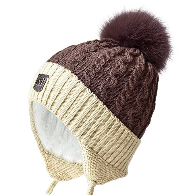 Amazon.com  Toddler Winter Beanies Hats for Kids Boys Knit Beanie ... 46b9795e3b4