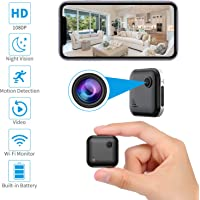 OUCAM Mini Spy Camera WiFi Wireless Hidden Camera with Audio Live Feed Home Security Camera Nanny Cam Wireless with Cell…