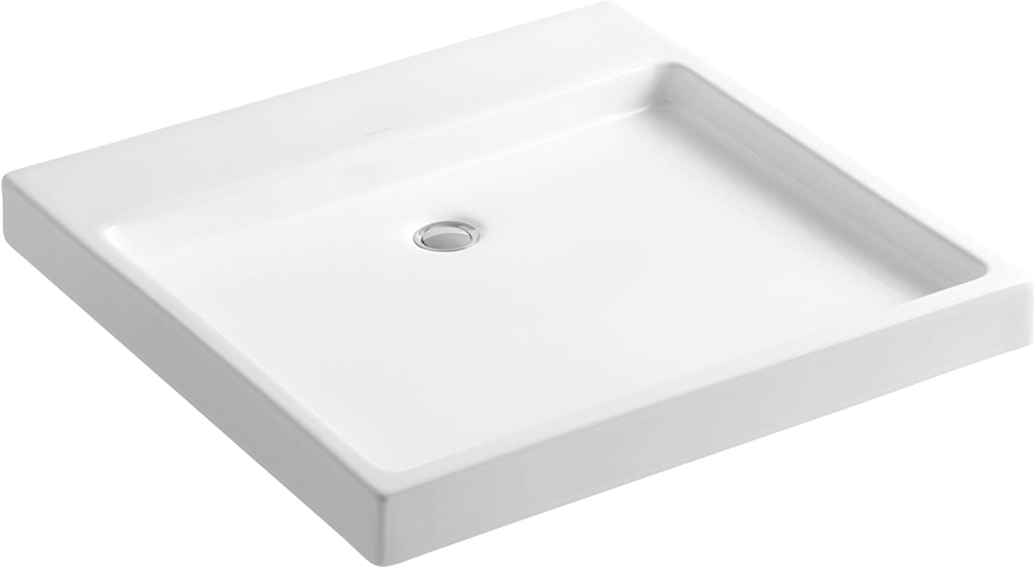 Purist Wading Pool Above-Counter Wall-Mount Bathroom Sink Finish White